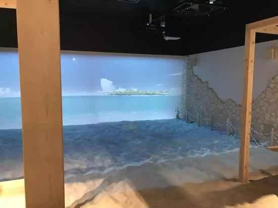 适合休息的AR海景,下面是真实的沙地