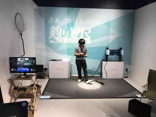 VRZONE二层,《钓鱼VR》